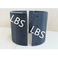 Buy cheap Fully Machined Bolted Connection Wire Rope Sheaves Black Polymer Material product