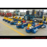 Buy cheap Rubber Roller Steel Pipe Welding Turning Rolls , Tank Welding Rotator 150000kg product