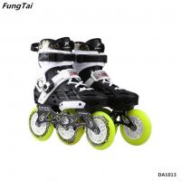 Buy cheap 2 in 1 Patins Shoes Street Slalon Roller Inline Skates 110mm Wheels Professional Speed Skate Shoes White Color (DA1013) product