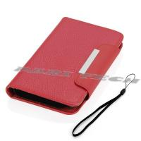 China Red Leather Case Wallet Cover Card Holder for Samsung Galaxy Note 2 II GT-N7100 on sale
