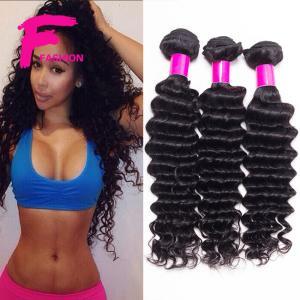 Buy cheap do Weave profundo brasileiro do cabelo humano da onda do cabelo do Virgin dos produtos de cabelo da rainha do vison 7A onda profunda product