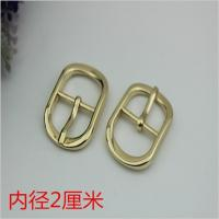 Buy cheap Fashion popular hardware accessories 20 mm zinc alloy gold oval pin buckle for shoes clothing hardware accessories product