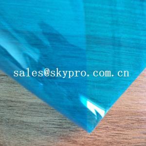 High Density PVC Plastic Sheet Transparent Blue Soft Super