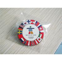 Soft enamel Olympic Games lapel pin, enamel Olympics lapel pin with butterfly clutch,