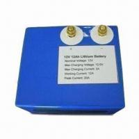 Buy cheap 12V Rechargeable Battery, Built-in PCM, Hard Housing and 14.6V DC Charging Voltage product
