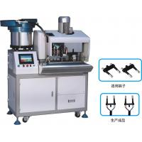 Buy cheap Euro 2 Pin Automatic Plug Strip And Insert Machine , Fully Automatic Crimping Machine from wholesalers