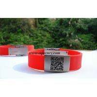 Buy cheap Wholesale Medical ID Bracelet, Sport ID Bracelets,Cheap color QR Code ID Bracelet product