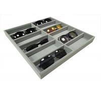 Buy cheap Soft Velvet Gray 12  Grids Of Eyeglasses And Sunglasses Display Tray Case product