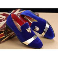 Buy cheap Men'S Velvet Loafer Shoes With Personality Tiger Head Gold Buckle Red Bottom Shoes product