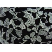 Buy cheap Black Printed Flocked Fabric / Cloth For Home Textile Sofa Pillow product