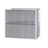 Buy cheap Deep Pleat Type High Temp Hepa Filter Performance With Aluminum Foil Separator product
