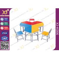 Buy cheap Metal Frame MDF Student Desk And Chair Set For Training Room Powder Coated from wholesalers