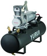 Buy cheap Black And Silver 12V 200psi Steel Portable Compressed Air Tank / Air Source Kit product