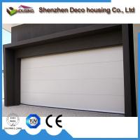 China Residential elegant galvanized motorized steel PU foam insulated flat panel garage doors on sale