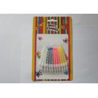 Buy cheap Colorful Customized Spiral Birthday Paraffin Craft Candle Party Decoration product