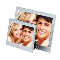 China 7 Inch Metal Case Video Digital Photo Frame With Clock And Calendar 250cd/m2 on sale