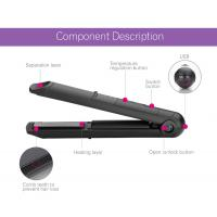 China Usb Cordless Rechargeable Curling Tools Battery Operated Flat Iron For Outdoor on sale