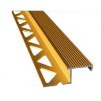 Buy cheap Aluminum Tile Trim / Aluminum Extrusion Profile with Golden Anodized Color product
