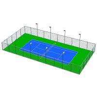 Buy cheap Green / Blue Outdoor Basketball Surface Material , 3mm Sports Flooring Tiles product