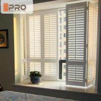 Buy cheap Aluminum Alloy Swing Plantation Shutters Environment - Friendly White Color product