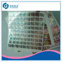 Buy cheap Customize Hologram Stickers , Hot Silver Stamping / Glossy Laser Sticker For Cosmetic , Wine product