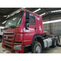 China 2015 made in china tractor head 6*4 10 Tires Sinotruck Howo tipper  dump truck tractor truck flatbed semi-trailer on sale