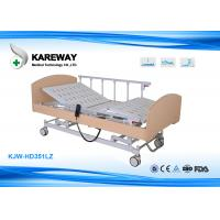 CE FDA Wooden Frame Homecare Hospital Beds Three LINAK Motors With Central Lock