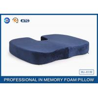 China Pressure Relief Visco Memory Foam Wedge Seat Cushion For Plane And Wheelchair wholesale