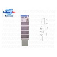 Buy cheap Store Temporary Card Cardboard Floor Shelving Disinfectant Wipes Display Stands Full Colors Printed product