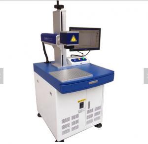 China Metal emblems materials optical fiber laser marking carving machine on sale