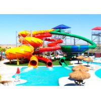 Buy cheap Giant Spiral Water Park Slide , Custom Pool Slides For Kids / Adults product