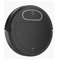 Buy cheap Black Color Smart Robot Vacuum Cleaner 50-70 Working Minutes Recharge Battery from wholesalers