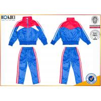Buy cheap New school uniform design blue and red color 100% polyester custom school from wholesalers