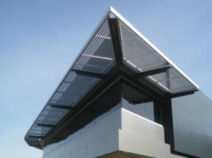 Buy cheap Energy Efficient Extruded Aluminum Sun Shade Louvers Mill Finish Tinted Glass product
