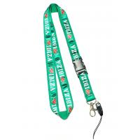 Buy cheap Delicate Shiny Green Cell Phone Neck Lanyard With Love IBIZA Logo Safety Buckle product