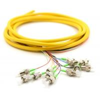 Buy cheap Ribbon Fan Out Fiber Pigtail , High Mechanical Durability Patch Cord Pigtail product