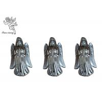 Quality Silver Plating Casket Accessories , PP Funeral Coffin Ornaments Angel Model for sale