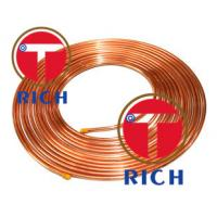 Buy cheap C11000 Capillary Copper Pipe Coil Non - Alloy For Air Condition / Refrigerator product