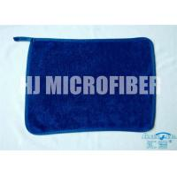 Buy cheap Blue 30 * 40  microfiber dish towels , weft twist Ultra Thick Plush Fleece cleaning microfiber cloth product