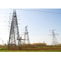 China 220kv Electric Power Tramsmission Steel Tower , Angle Steel Lattice Tower on sale