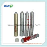 China Soft Empty aluminum tubes for hair dying cream packing 32mm Diameter Silver color printed wholesale