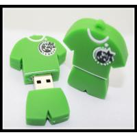 Quality offer OEM PVC/silicone custom logo usb pen drive football T-shirt usb flash drive for sale