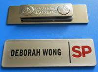 2017 custom luxury recycled metal magnetic name badge manufacturer with name insert paper