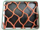Buy cheap Orange PES Yarn HDPE Fishing Nets 100mm to 700mm For Fish Pond / Drag Net product