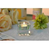 Buy cheap Square Colored Glass Votive Candle Holders , Glass Tealight Holders product