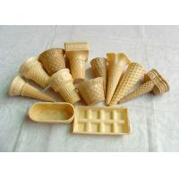 Buy cheap Eco - Friendly Ice Cream Wafer Cups For Store / Supermarket , Custom Shape product