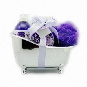 Buy cheap Bathtub Natural Bath Gift Set, Inculudes Shower Gel, Bath Salt, Body Lotion product