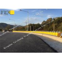 Buy cheap Durable Yellow EVA Rolling Road Barrier Corrosion Resistance For Road Upgrade product