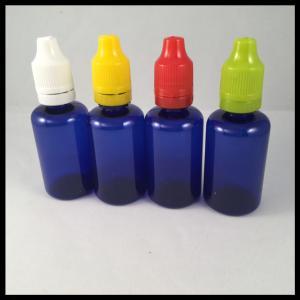 China Blue 30ml Plastic Bottles PET Dropper Bottles E Cig Liquid Bottles on sale