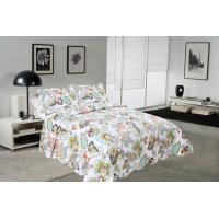 Buy cheap Big Cockscomb Flower Quilted Bed Covers , Full Size Bed Quilt Sets With ISO9001 Certification product